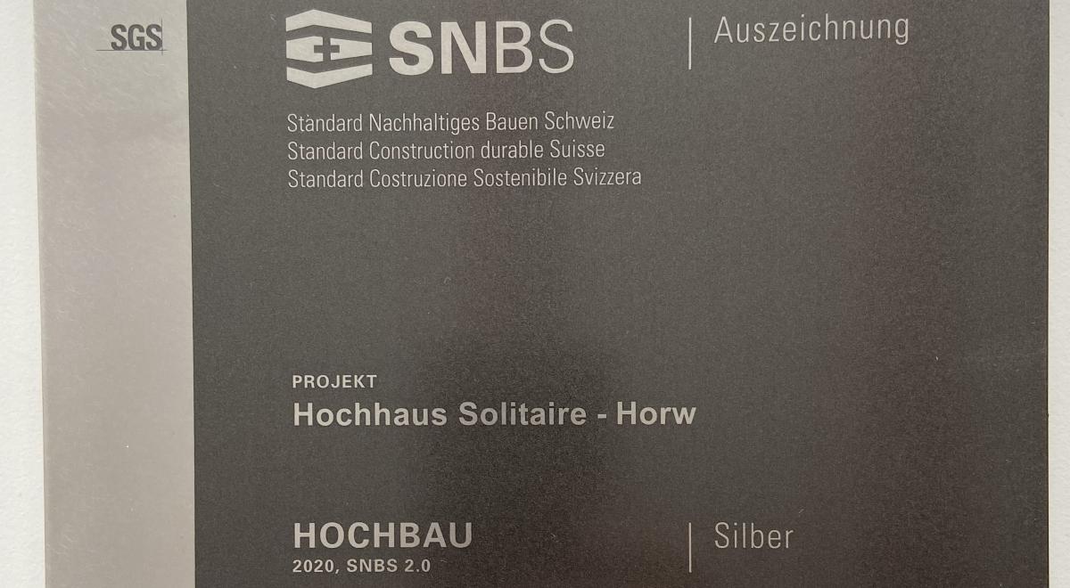 Zertifikat Horw