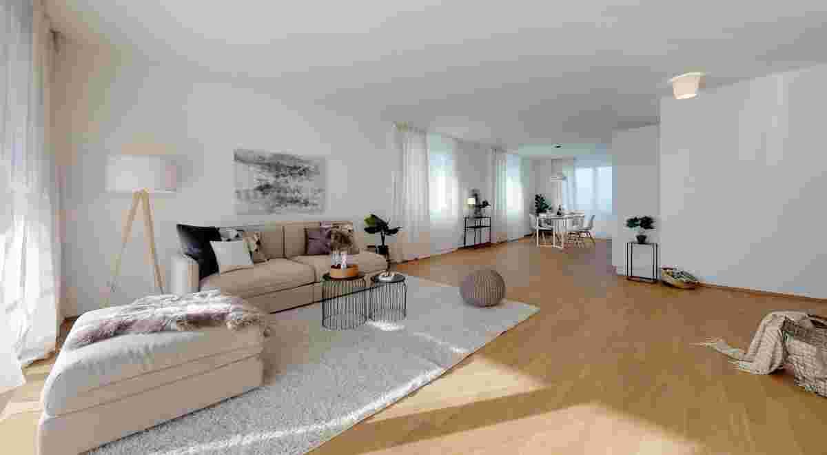 Grosszugige 35 Zimmerwohnung in Seenahe Living Room